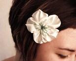 flower brooch in cream