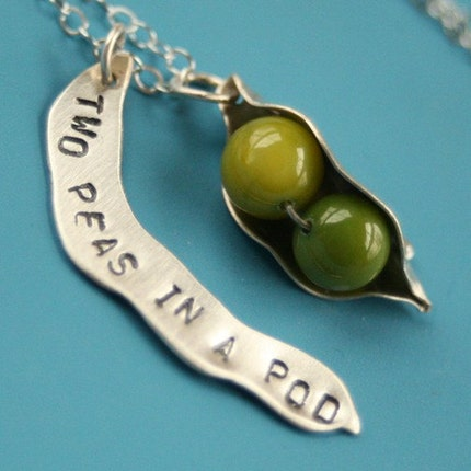 Etsy :: Two Peas in a Pod Necklace (green)