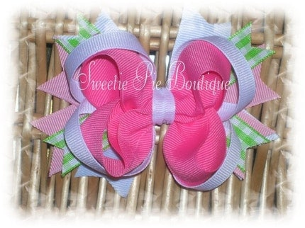 4 Inch Layered Boutique Hairbow Bow