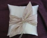 NEW Wedding Ring Bearer Pillow IVORY CHAMPAGNE