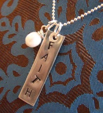 classic rectangle tag customized and hand stamped just for you