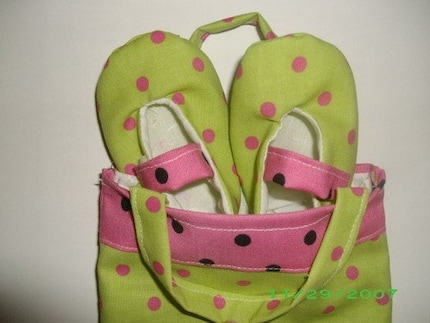 Mary Jane Infant Shoe Set Custom Gift Bag