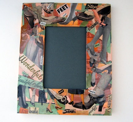 Vintage Shoe collage  (photo frame)
