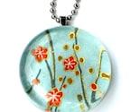 quiet sophistication- glass geisha gem pendant necklace