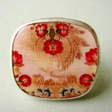 Etsy :: brocade tray ring-pink from etsy.com