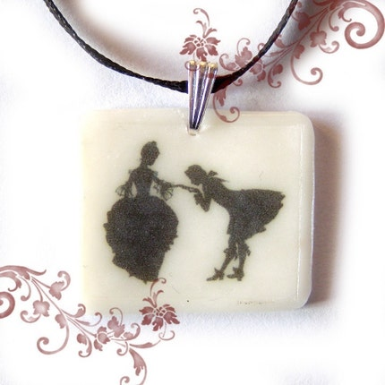 Shall We Dance sihouette cameo PENDANT