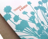 thanks a bunch - set of 6 gocco/screen printed botanical cards
