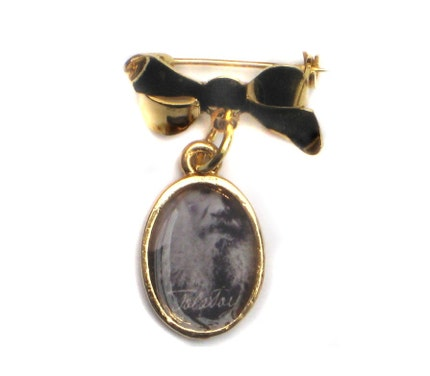 Anna Karenina Russian Tolstoy Gold Pin Brooch from Hoolala
