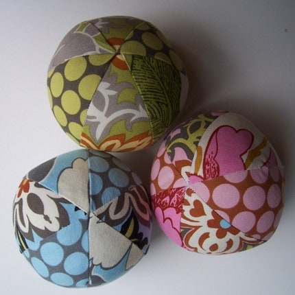 Amy Butler Lotus - Set of Three Soft Balls - Makes a Unique Gift