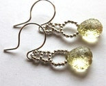 Moon Ladder earrings - sterling and lemon quartz