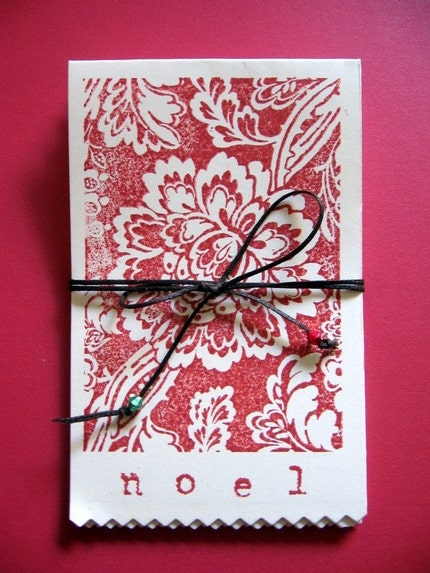 NOEL set of 8 lovely christmas cards