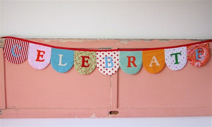 Celebrate Fabric Banner