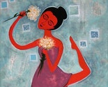 Flower Dance-----Original Painting 12 x 12 inches