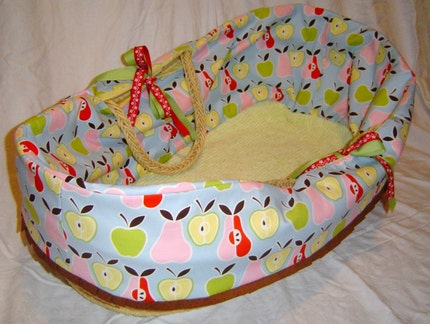Etsy :: Apples and Pears Moses Basket