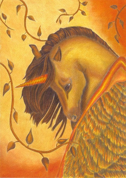 """Pegasus by artca<br><br>""""This pegasus wouldnt be out of place in one of Hagrids Care of Magical Creatures lessons at Hogwarts!"""""""