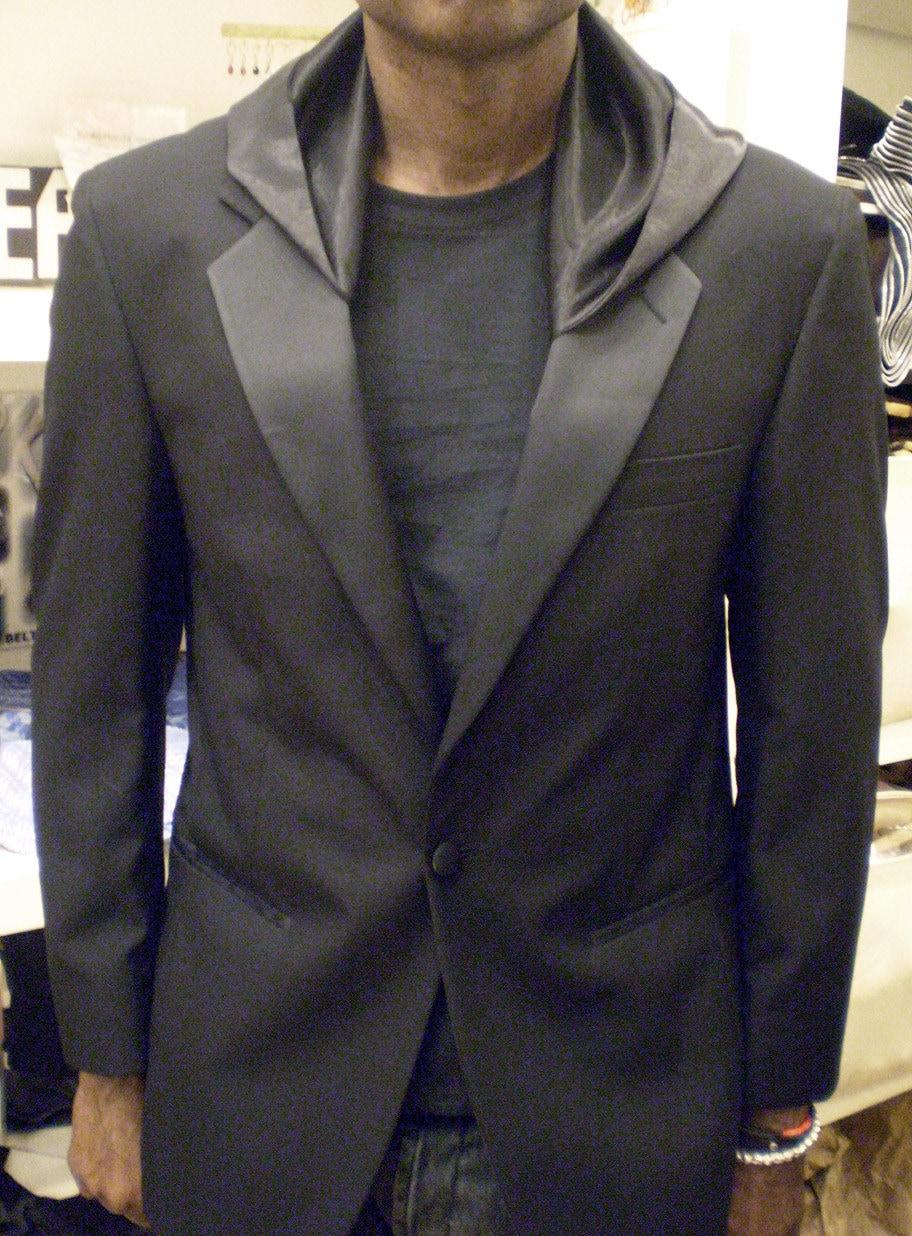 Black Tuxedo Jacket with hood SIZE 44