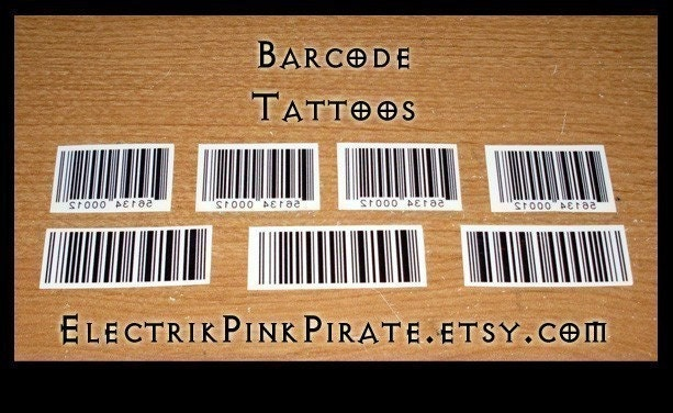 Barcode temporary tattoos Every