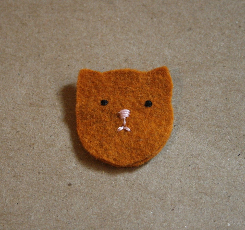 orange kitten cat brooch