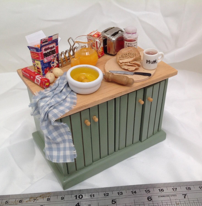 Dolls House Miniatures  Breakfast kitchen Unit  NEW AUTUMN 2015