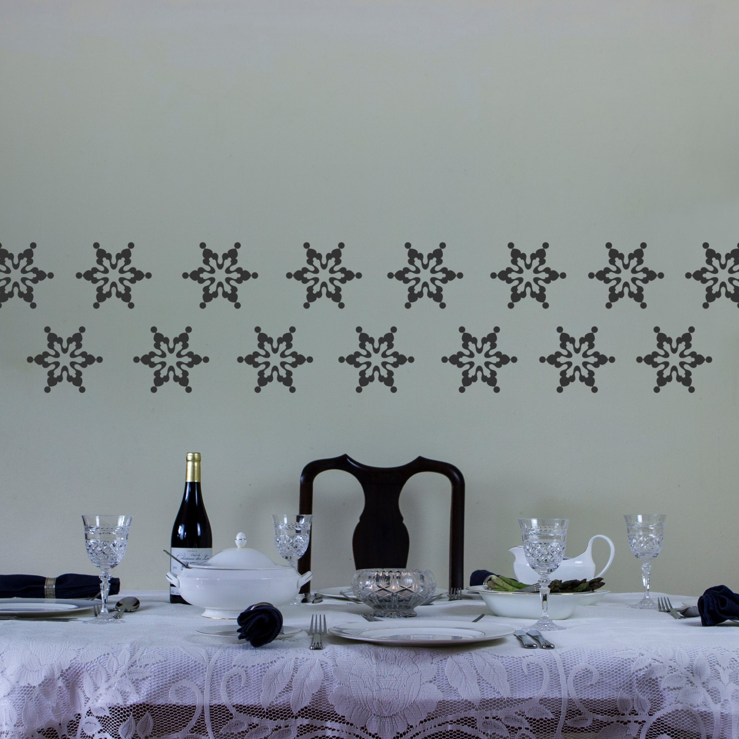 Snowflake Five Wall Art Decal Pack