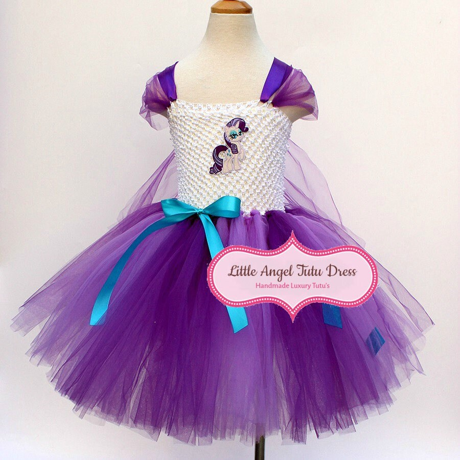 MLP Rarity My Little Pony Tutu Dress. Handmade Fancy Dress. Rarity Tutu Dress. Rarity Costume. Pony Fancy Dress. Lined Top. World Book Day