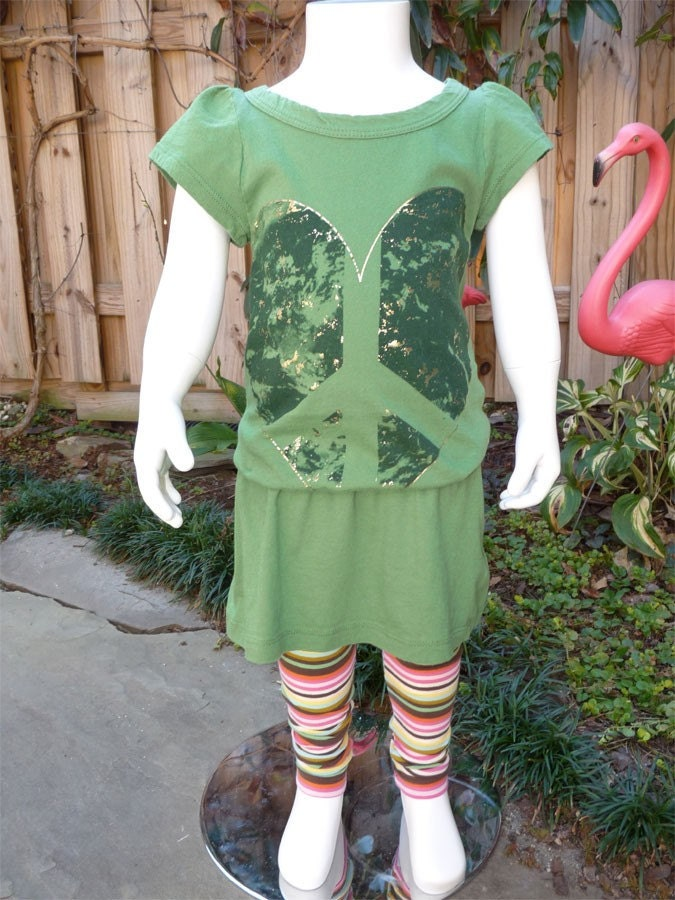 Upcycled Love Your Mother Earth T-Shirt Dress