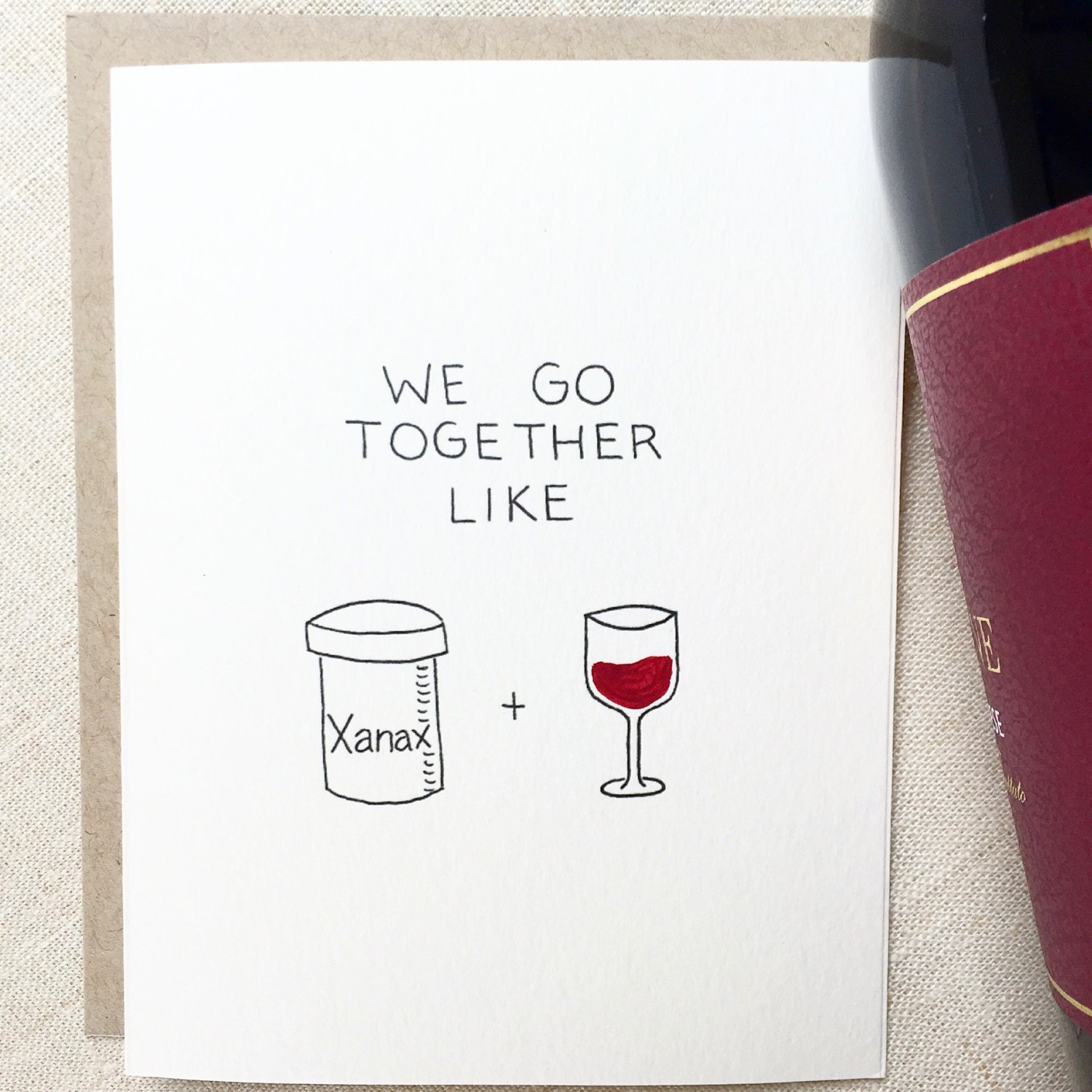 Funny Love Card Friendship Card Boyfriend Birthday Funny
