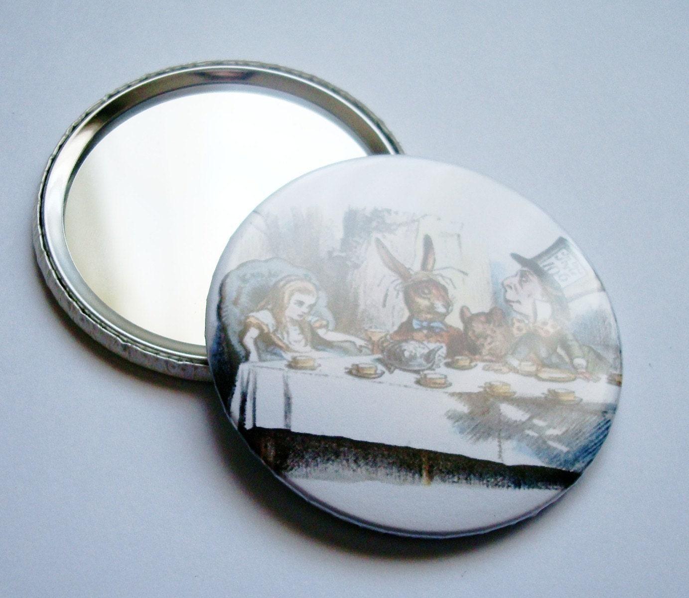 Tu bisuter a pupettas espejo de bolsillo alice in wonderland tea party - Espejos de bolsillo ...