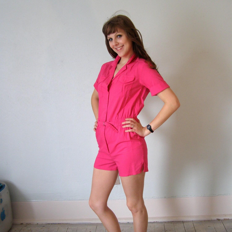 Foxy Hot Pink Romper