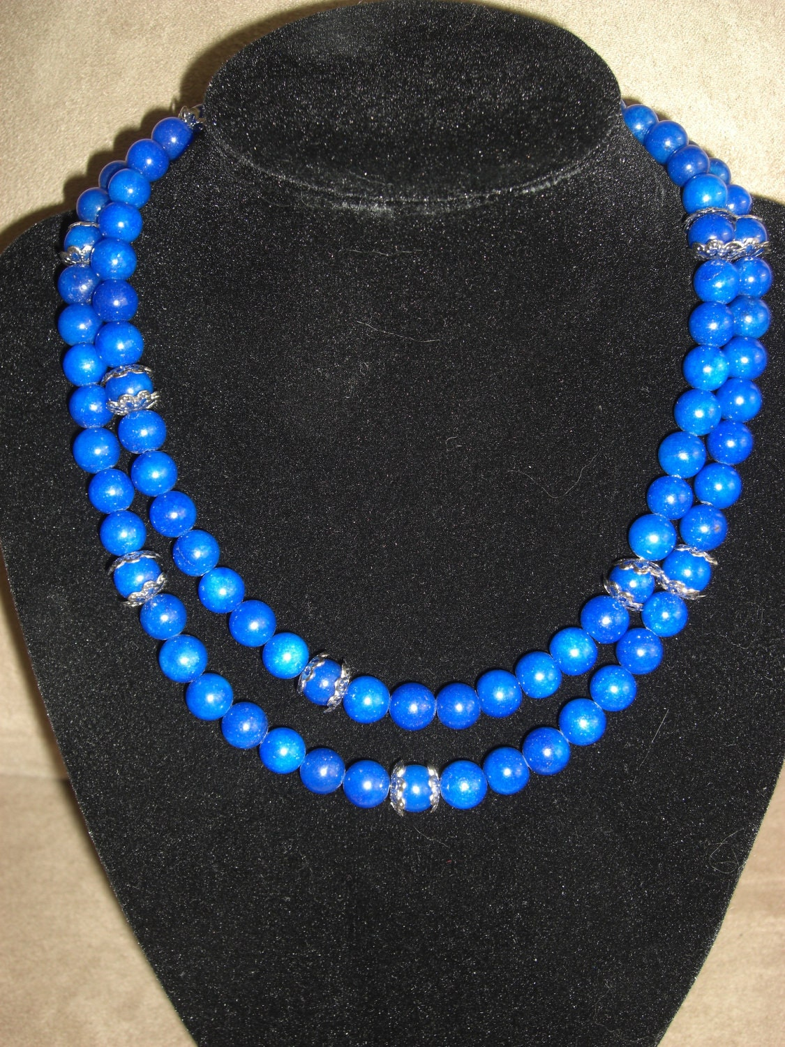 Long Elegant Royal Blue Necklace