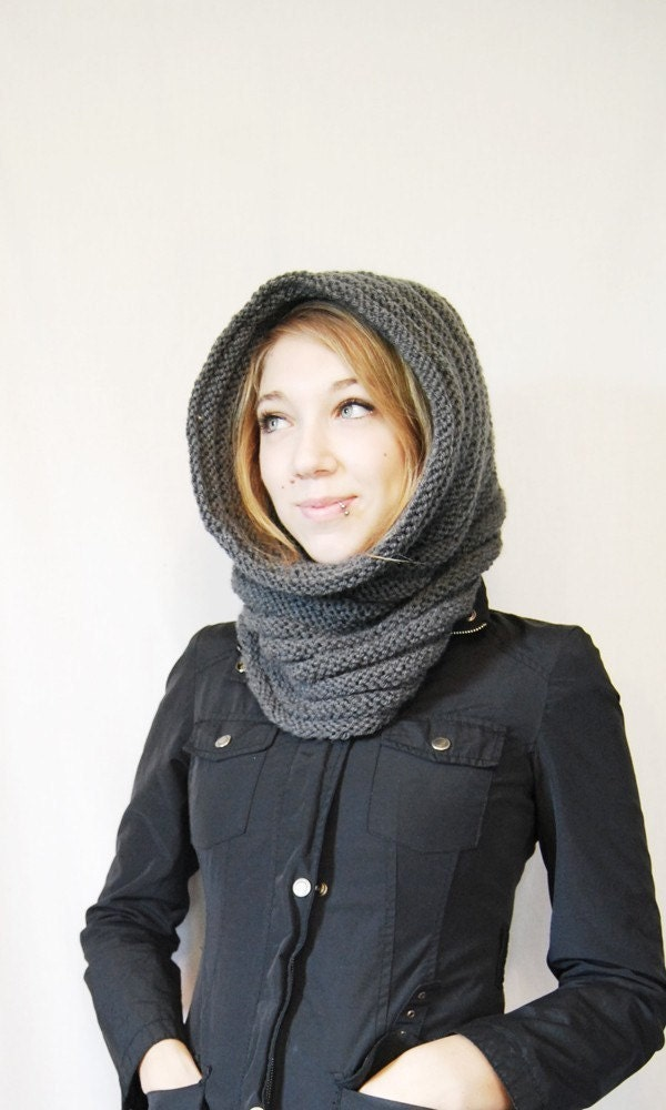Knight's Cowl/Hood in Dark Grey