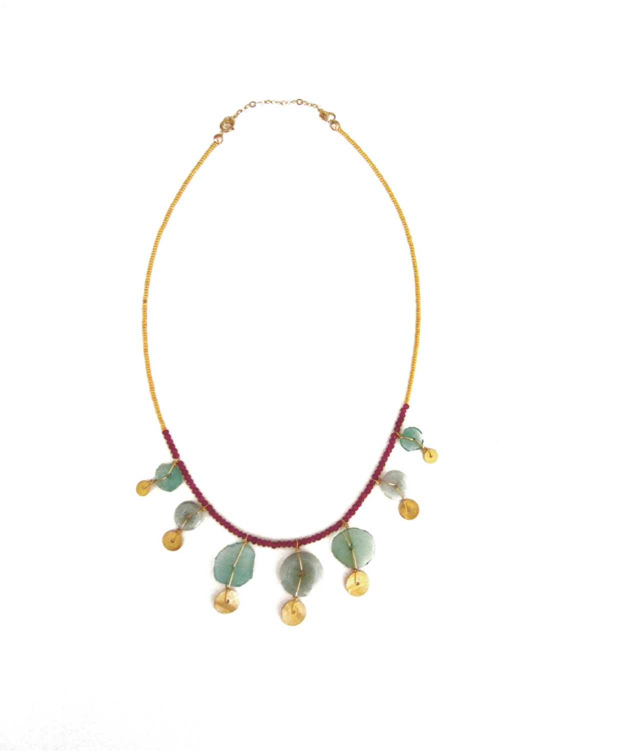 Gold Specks Necklace - GracelandJewelry