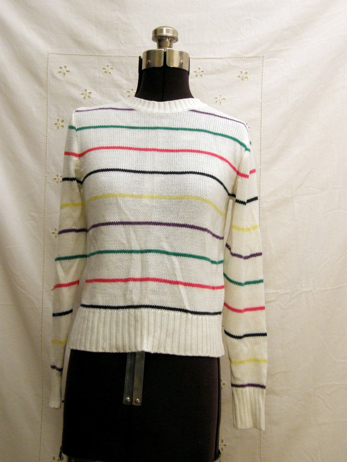 SALE// SALE Vintage Rainbow Striped Sweater free USA shipping