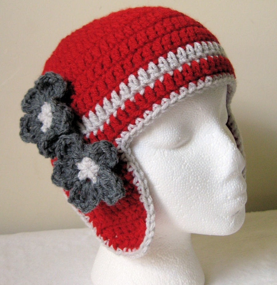 Cherry Bomb Earflap Aviator Hat