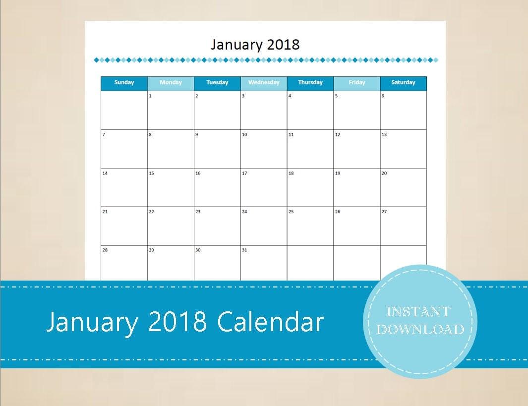 Printable and Editable December 2017 Calendar Seasonal