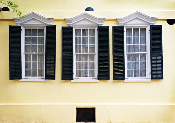 Charleston South Carolina Yellow Windows 8x12 - kaelynmichaels