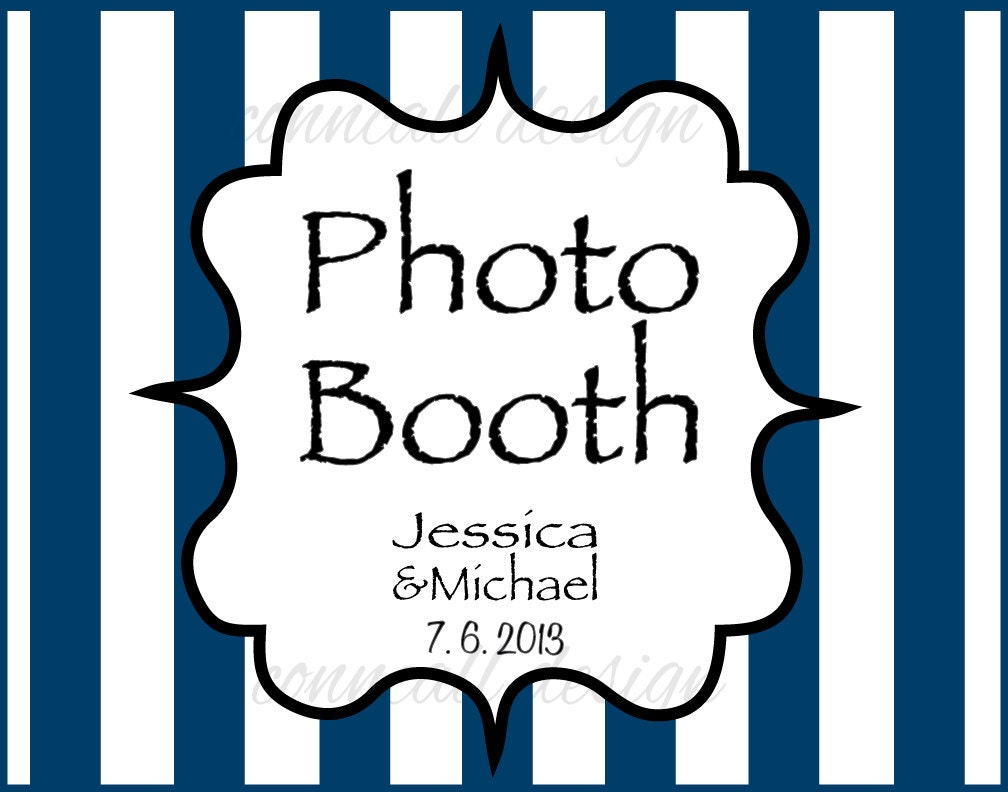 items similar to photo booth sign striped photo booth wedding sign photo both digital file. Black Bedroom Furniture Sets. Home Design Ideas