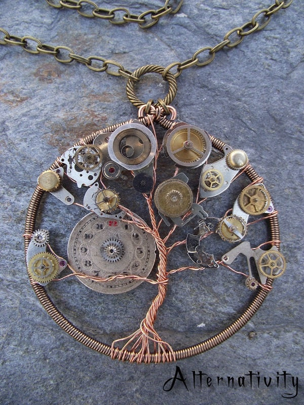 Steampunk tree of life by alternativity on etsy for Steampunk arts and crafts