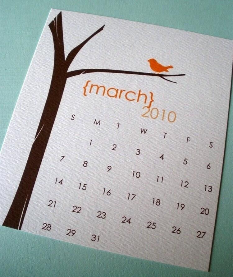Peony Paperie 2010 desk calendar