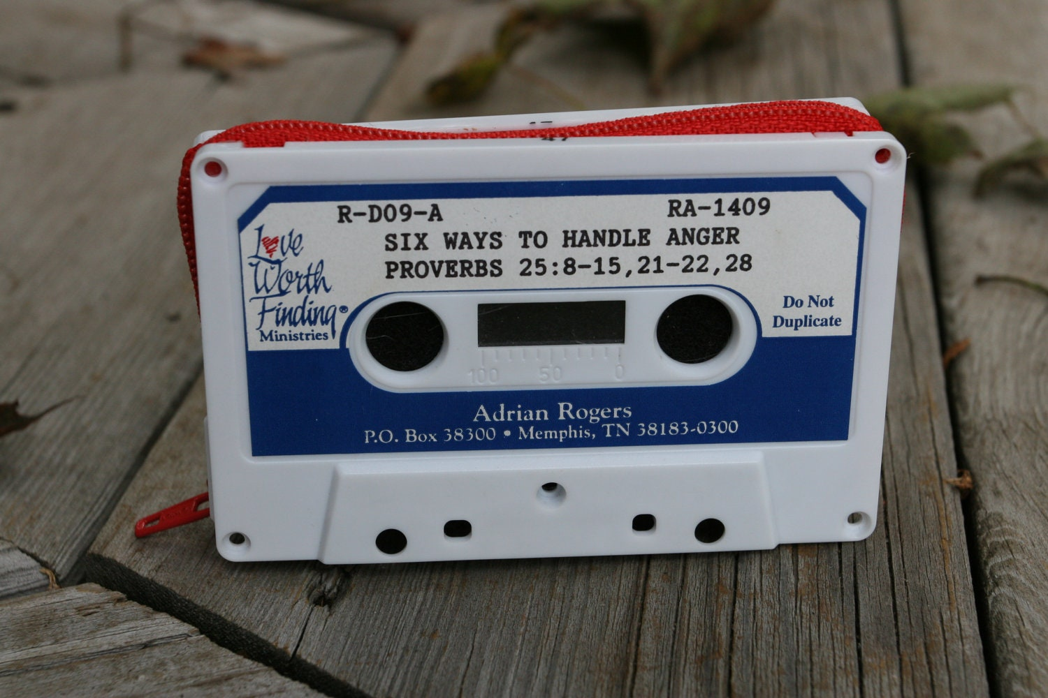Six Ways to Handle Anger- cassette tape wallet
