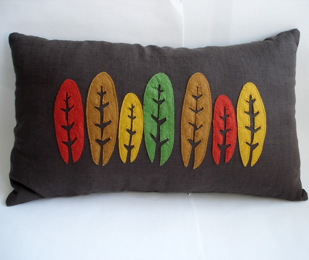 Trees Linen Pillow Cover -12x20