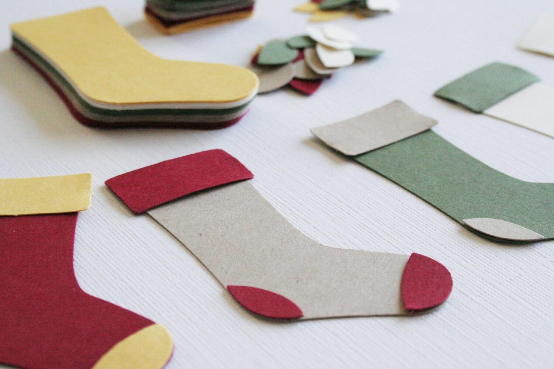 Diy Christmas Socks Diecuts Kit Craftjuice Handmade