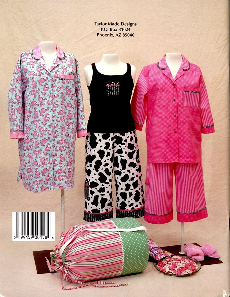 PAJAMA PARTY - Taylor Made Designs - Make it YOU - Cindy Taylor Oates - Pattern Book