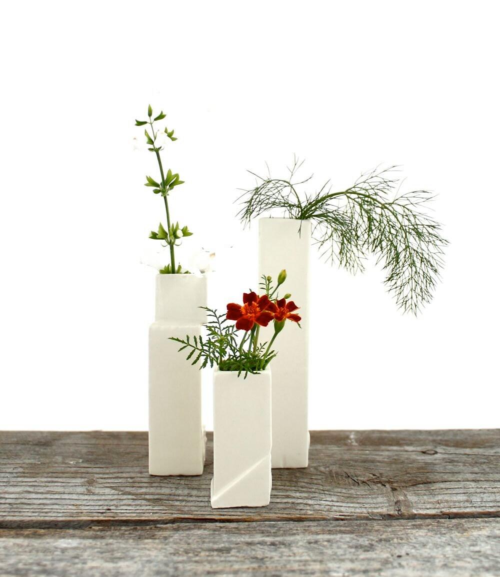 Cityscape Bud Vases- Set of 3 Individual Vases B - LandMstudio