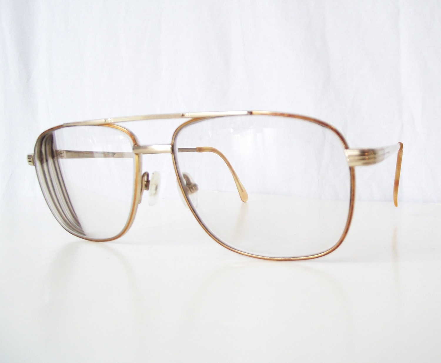 Old Gold Glasses Frames : Vintage Grandpa Glasses Eyeglasses by TheClassicButterfly