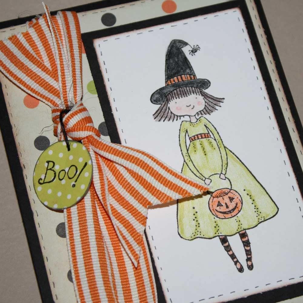 Etsygreetings Handmade Cards Halloween Greeting Card Hand Stamped