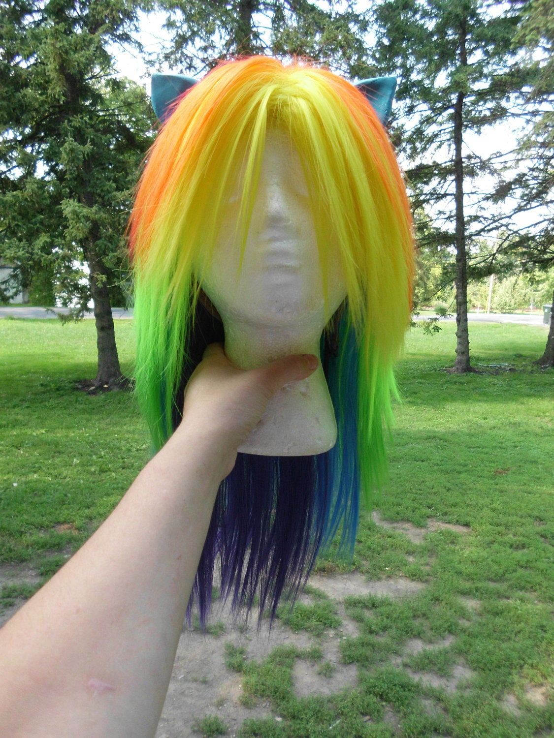 Rainbow Dash Wig MLP Costume Wig My Little Pony Cosplay Burlesque Friendship is Magic