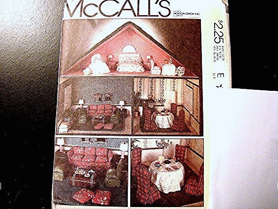 1970s Mccalls Doll Pattern Dollhouse Sewing By