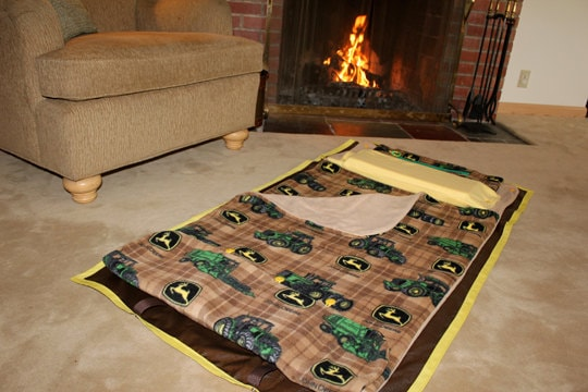 john deere plaid play mat nap sack kidcozy by kidcozy on etsy