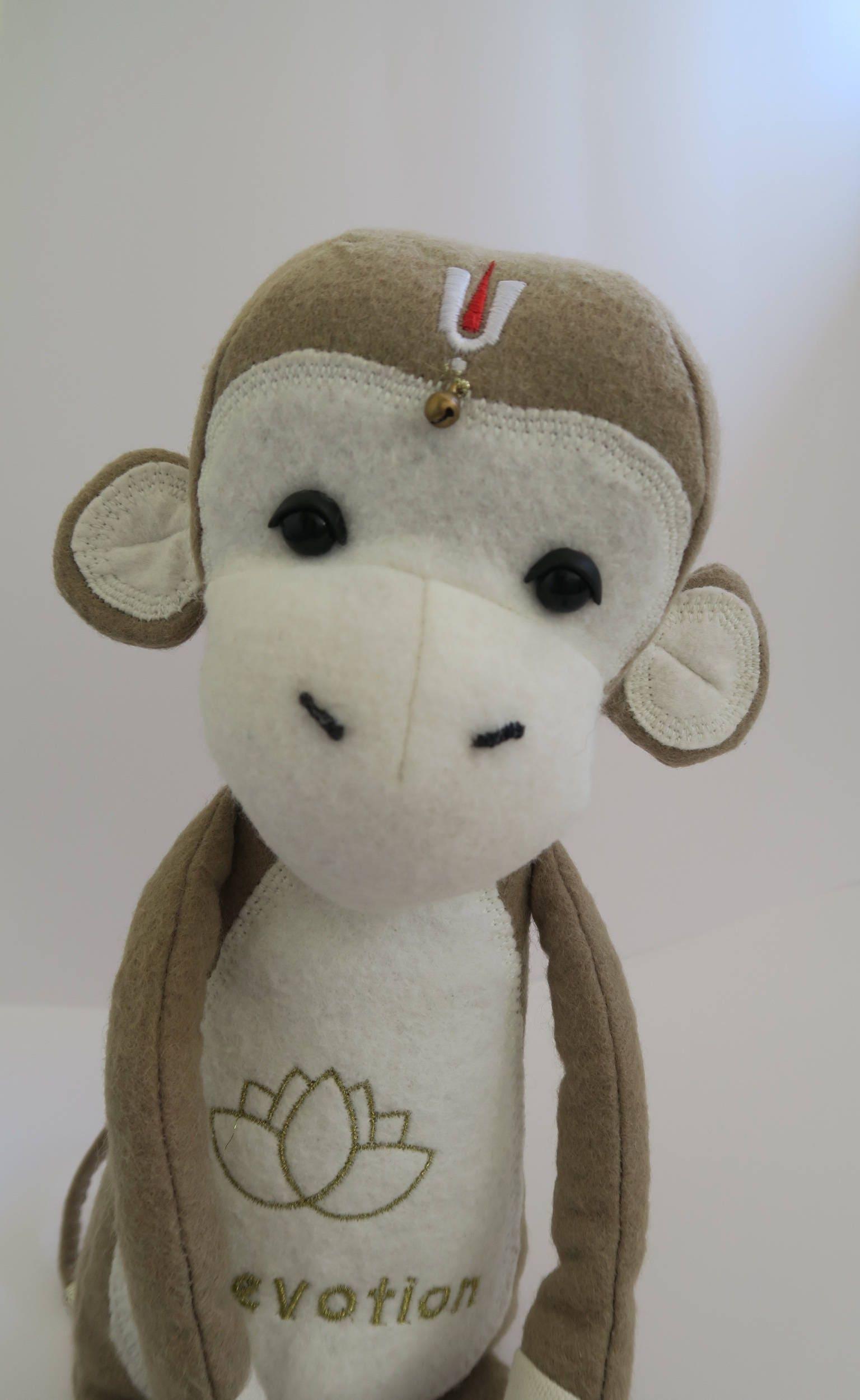 Hanuman deity inspired soft monkey decorative toy